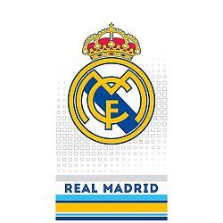 TipTrade Osuška Real Madrid Cubes Grey, 70 x 140 cm