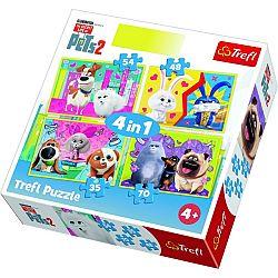 Trefl Puzzle Tajný život maznáčikov 2, 4 ks (35,48,54,70 dielikov)
