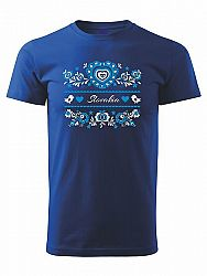 Tričko modrý ornament