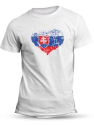 Tričko srdcom slovák