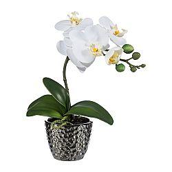 Umelá Orchidea v kvetináči biela, 35 cm 1716302-40