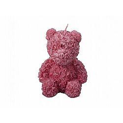 Valentýnska sviečka Medvedík, červená