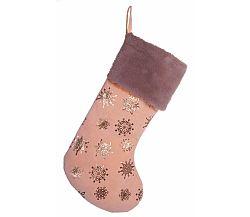 Vianočná ponožka - rúžová