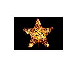 Vianočná stojacia hviezda 10 LED - zlatá