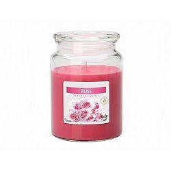 Vonná sviečka v skle Ruža, 500 g