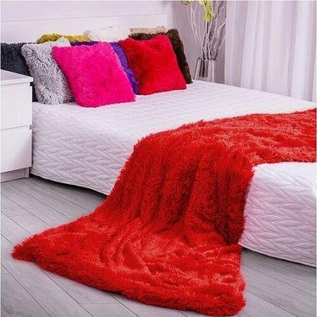Domarex Deka XXL / Prehoz na posteľ Corona červená, 200 x 220 cm