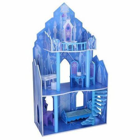Ecotoys drevený domček pre bábiky Ľadové Kráľovstvo