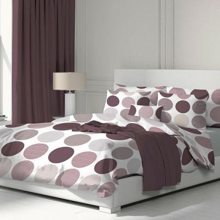 Kvalitex Bavlnené obliečky Ava fialová, 140 x 200 cm, 70 x 90 cm