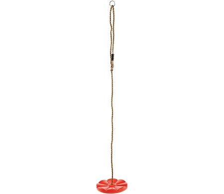 Marimex Play Hojdací disk kvetinka - červená