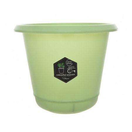 Plastový kvetináč Pastels zelená, 22 cm
