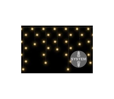Svetelný záves  dvojitý - 80 LED - teplá biela