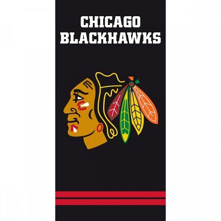 TipTrade Osuška NHL Chicago Blackhawks Black, 70 x 140 cm